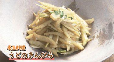 養生料理・うどのきんぴら(NHKシブ5時)